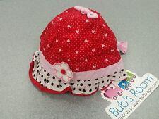 Kids, Girls, Boys Summer Hat/Hats~HEARTS~POLKA DOTS~Handmade in Australia Size S