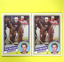 (Lot of 2)   TOM BARRASSO 84-85  ROOKIE  Topps #18   Buffalo Sabres
