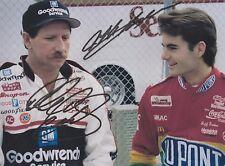 Dale Earnhardt Sr. (Deceased) Jeff Gordon NASCAR RARE DUEL-SIGNED RP 8x10 WOW!!!