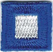 International Maritime Nautical Signal Flag Letter P Papa Embroidery Patch