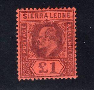 1903 Sierra Leone. SC#76. SG#85. Mint, Never Hinged, FVF