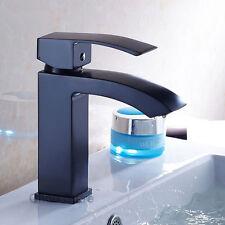 Bathroom Oil Rubbed Bronze Basin Sink Faucet Single Handle Vanity Mixer Tap