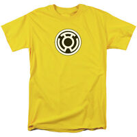 Green Lantern Yellow Lantern Sinestro Corps Logo Licensed Tee Shirt Adult S-3XL