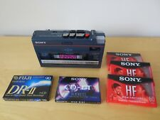 Sony WA-55 Portable AM FM Stereo Cassette Recorder Player - Works - No FW/RW
