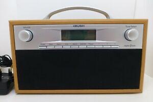 Bush Portable Digital Radio  Wooden Veneer Battery Plug In DAB (SG010)