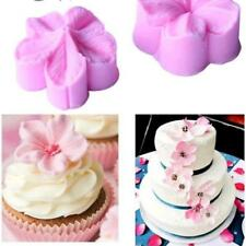 2pcs Blossom Flower Petal veiner Silicone Mould Cake Cupcake Wedding Cherry LC