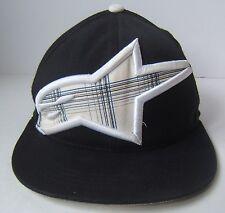 "Alpine Stars Astars Black White Hat L-XL 7 1/4 - 7 5/8"" Fitted Baseball Cap"