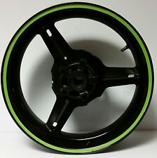 KAWASAKI LIME GREEN REFLECTIVE MOTORCYCLE RIM STRIPES WHEEL DECAL TAPE STICKERS