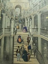 """Litho 1850 par Benoist: Nantes et la Loire inférieur: """"Le Passage Pommeraye"""""""