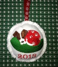 Jack Russell Terrier Christmas Ornament custom embroidered