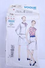 Vogue Special Design Dress original Pattern Suit 7146 Size 10 Bust 31 Hip 33