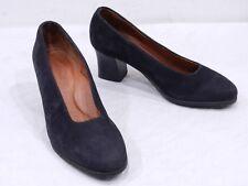 BEAUTIFEEL Womens 38 7.5 Black Nubuck Leather Pumps High Heels MADE IN ISRAEL