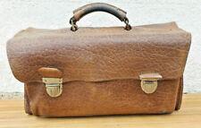 Ancien Cartable Cuir Marque KROKO Année 50 environ 4 compartiments Vintage