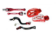 New CR 125 04-07 Apico Brake Gear Pedal Flexi Clutch Brake Lever Footpegs Red
