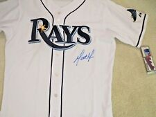 MATT MOORE. AUTOGRAPH. TAMPA BAYS RAYS AUTHENTIC SIZE 44 JERSEY. W/ COA & PHOTO.