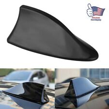 Car Black Shark Fin Roof Antenna Amplifier Radio Signal FM/AM Aerial Cover Black