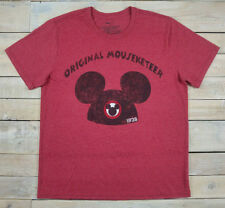 Disney Original Mouseketer 1928 Graphic Short Sleeve Heather Red T-Shirt Size Xl
