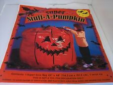 NEW HALLOWEEN SUPER STUFF A PUMPKIN ORANGE DECOR OUTDOOR LAWN LEAF BAG SEASONAL