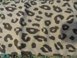 new 2 heavyweight flannel Pillow Cases gray black Leopard Spots Jungle Wild Look