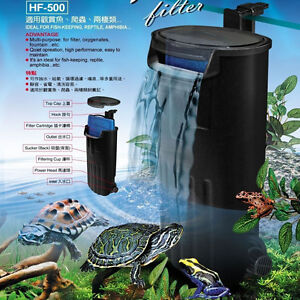 Turtle Internal Filter Low level water Amphibian Aquarium Frog fish tank reptile