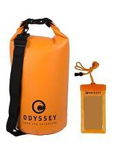 Orange Waterproof Dry Bag (10L) By Odyssey, With Shoulder Strap and Free Bonus