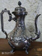 Verseuse en métal argenté Maison Armand Frenais guilloché reposant sur 4 pieds