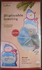 Hallmark Connections Displayable Christmas Ornament Snowman Greeting Card