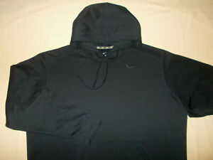 NIKE THERMA-FIT DARK NAVY BLUE HOODED SWEATSHIRT MENS XXL EXCELLENT CONDITION
