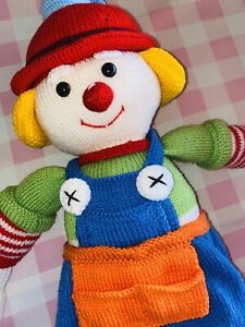Large Crochet Knitted Children's Clown Toy