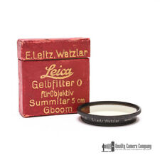 Leica Summitar Light Yellow Filter Black #13080 / GBOOM - Boxed
