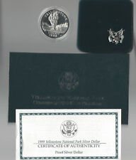 USA: Silber Dollar 1999, Yellowstone National Park, Proof, PP