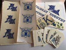 KENTUCKY WILDCATS MASCOT NCAA DECALS Vintage Old BASKETBALL CHAMPIONS DECAL LOT