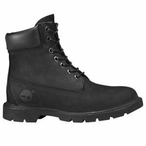 Timberland Men's 6' Inch Basic Waterproof Suede Nubuck Boots Black 19039
