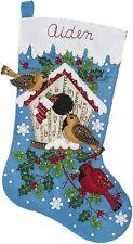 "Bucilla Winter Christmas Birds Felt Stocking Kit Brand New 18"""