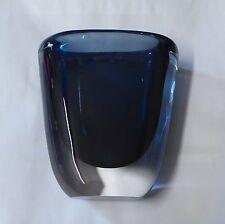 Orrefors por Nils Landberg Azul Anochecer Florero De Cristal
