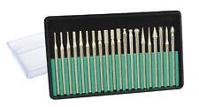 Mannesmann Diamond Mini Rotary Drill Set 20 pcs Carbon Steel Burr Set 3.17mm TUV