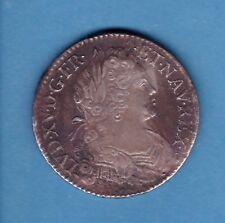 (ROY 53) LOUIS XV ECU DE FRANCE NAVARRE 1718 B (ROUEN) TTB+/TTB-