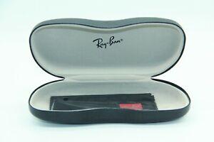 NEW BLACK RAY-BAN HARD SHELL CASE + POUCH + CLOTH SUNGLASSES & EYEGLASSES