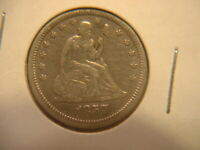 U.S. 1857 Seated Liberty Quarter Dollar