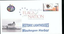 Flags of our Nation - Illinois (Sc. 4289) Waukegan Harbor Lighthouse