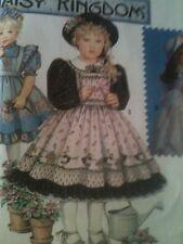 NIP Simplicity Daisy Kingdom 9925 / 7699 5-6X Girls Pinafore Dress PATTERN FF UC