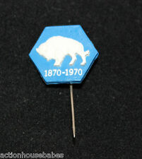 1870-1970 RAM/BEAR/BULL STICK PIN LABEL/HAT/BADGE MANITOBA