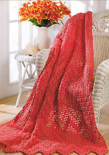 Crochet Pattern ~ CORAL REEF RIPPLE AFGHAN ~ Instructions