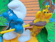 40209 Schtroumpf chasse aux papillons smurf pitufo puffo puffi variante T.Rare