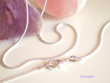 16 inch Snake Chain SILVER PLATED 1.2mm width