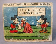 1935 R89 MICKEY MOUSE Gum card #60