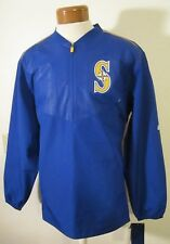 NWT Majestic Seattle Mariners On Field Training 1/2-Zip Jacket L Royal MSRP$80