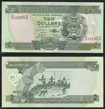 SOLOMON ISLANDS - 2 Dollars ND (1997) Pick 18  UNC
