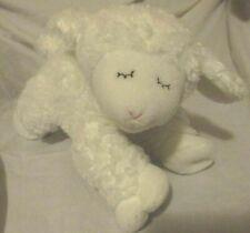 PLUSH White LAMB SHEEP WINKY BABY GUND RATTLE INSIDE