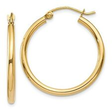 14K Yellow Gold Tube Hoop Earrings Style# T915L  $112.90